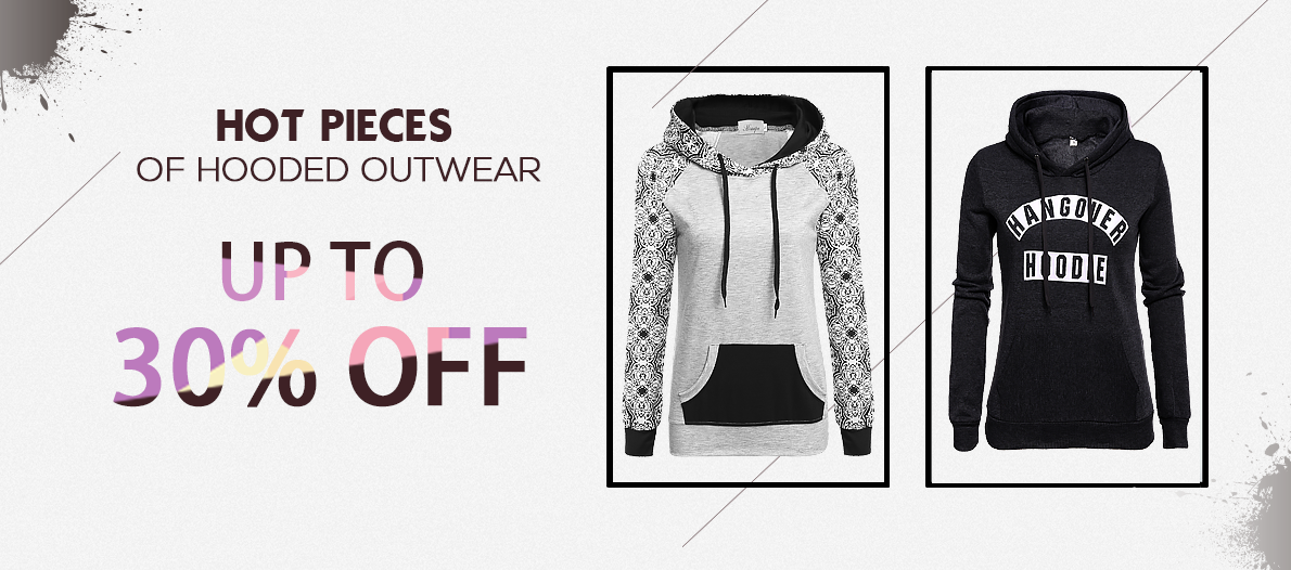 Hot Pieces Of Hooded Outwear