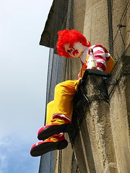 Desolate Ronald McDonald at Bristol Museum