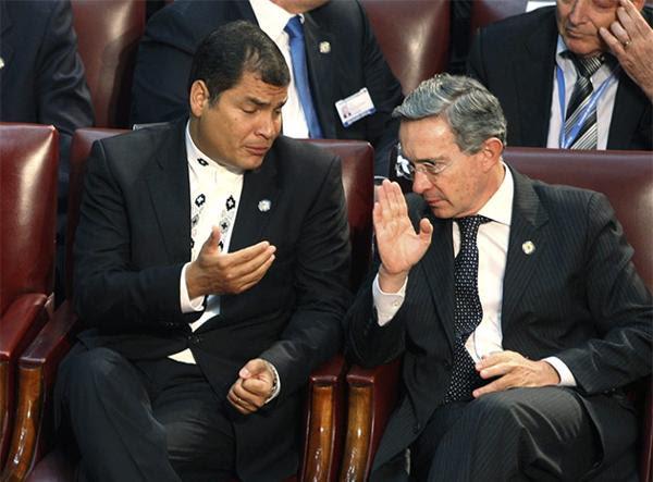 Rafael Correa y Álvaro Uribe: cruces que no pasaron a mayores