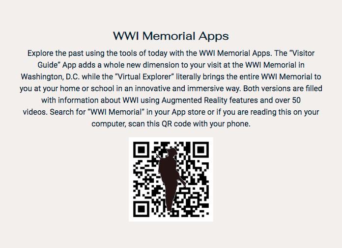 WWI Memorial Apps Panel