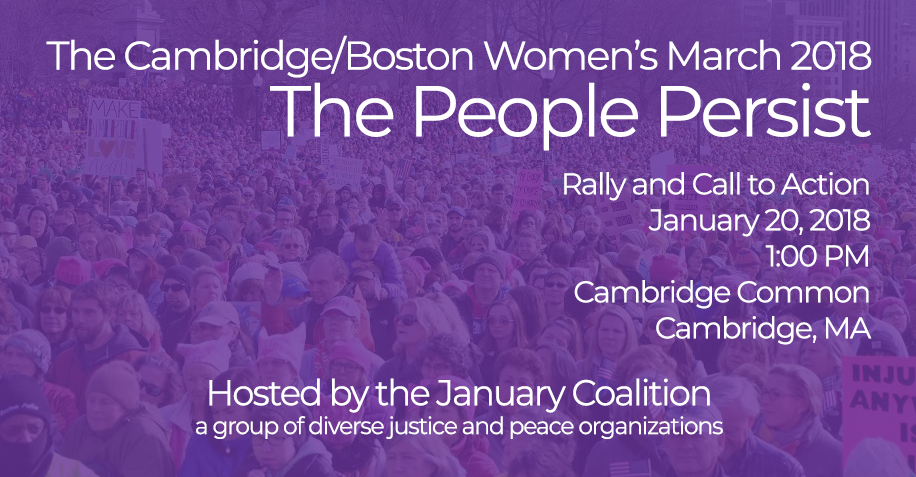 Cambridge/Boston Women's March 2018: The People Persist