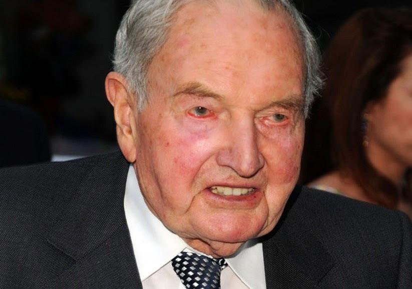 ABD'li Yahudi bankacı işadamı David Rockefeller, son yüzyılın ...