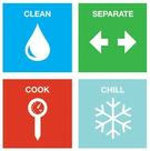 4 steps- clean, cook, chill, separate