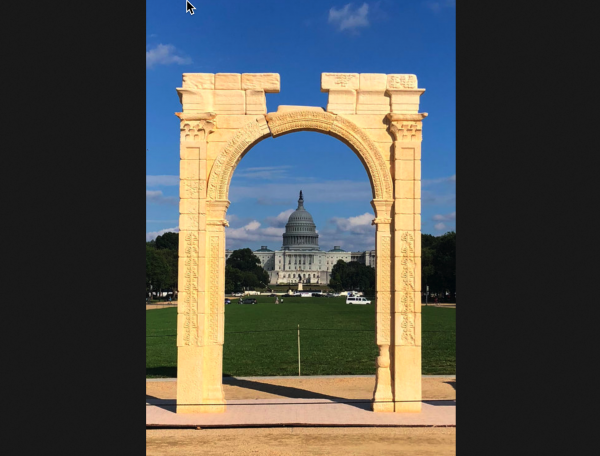 The Arch Of Baal Was Put Up In Washington D.C. One Day Before Brett Kavanaugh Testified To Congress