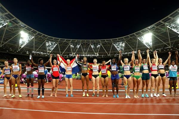 The heptathlon field after the 800m at the IAAF World Championships London 2017 (Getty Images)