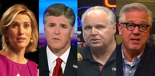 Ingraham Hannity Limbaugh Beck