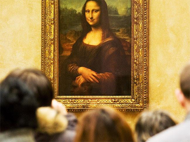 Bức tranh Mona Lisa của Leonardo da Vinci.
