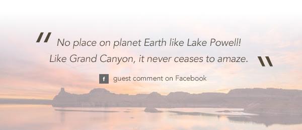 No place on planet Earth like Lake Powell!