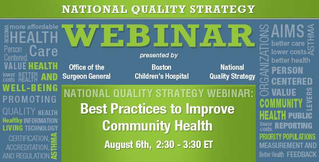 NQS Webinar on Best Practices to Improve Community Health