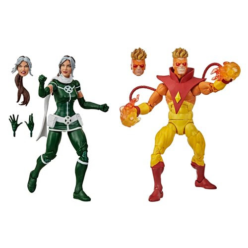 Image of X-Men Marvel Legends Rogue and Pyro 6-Inch Action Figure 2-Pack