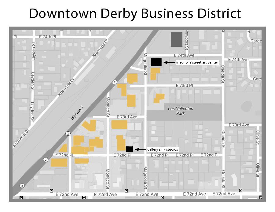 Derby Art District map