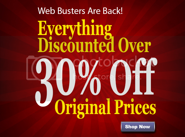 30% Off Web Busters