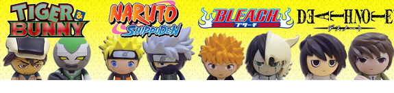 TREXI ANIME FIGURES - NARUTO, TIGER & BUNNY, BLEACH, DEATH NOTE