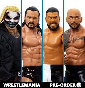 WWE WrestleMania Basic Series Set of 4 Figures