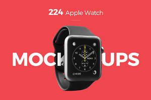 224 Apple Watch Mockups