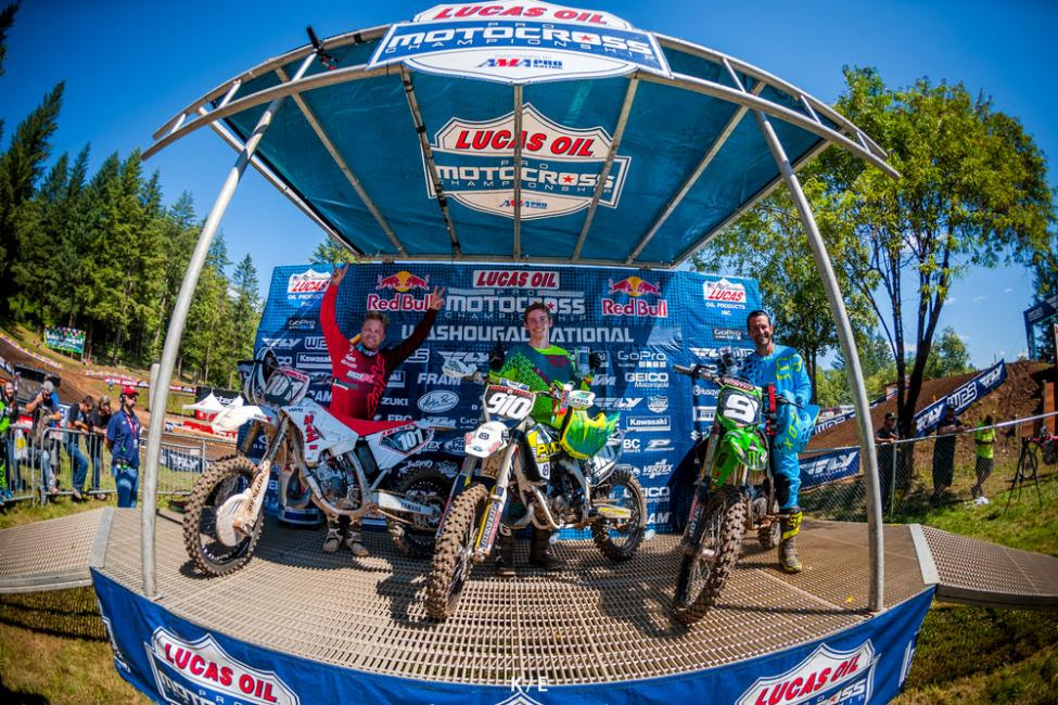 Last year's 125 Dream Race Podium from Washougal (L-R): David Pingree, Carson Brown, Ivan Tedesco.Photo Courtesy 125dreamrace.com