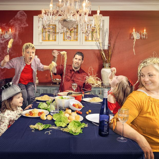 Image result for wall street journal family portrait food fight