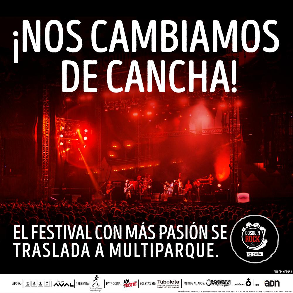 El Festival COSQUIN ROCK cambia de locación