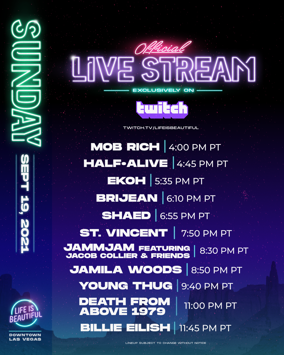 Life is Beautiful Official Livestream - Saturday