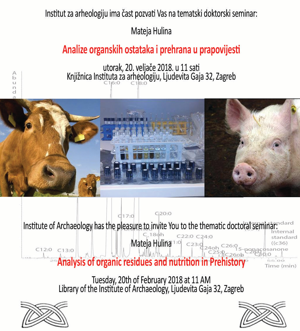 IARH – Tematski doktorski seminar 'Analiza organskih ostataka i prehrana u prapovijesti' (PRESS)