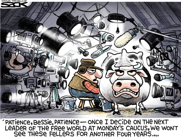 Iowa Caucus Craziness, Steve Sack,The Minneapolis Star Tribune,Iowa,caucus,vote,primary,election