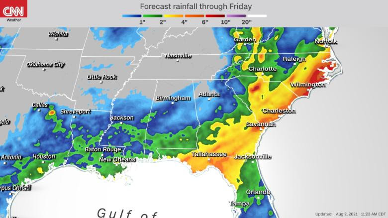 The East coasts are bracing for a rainy week ahead
