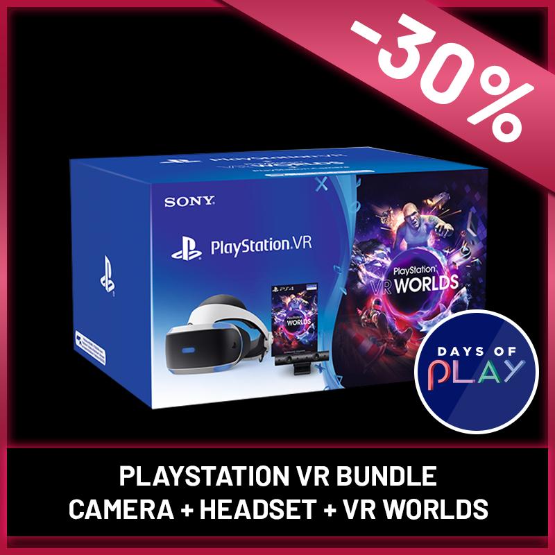 PlayStation VR Headset + Camera + VR Worlds Bundle