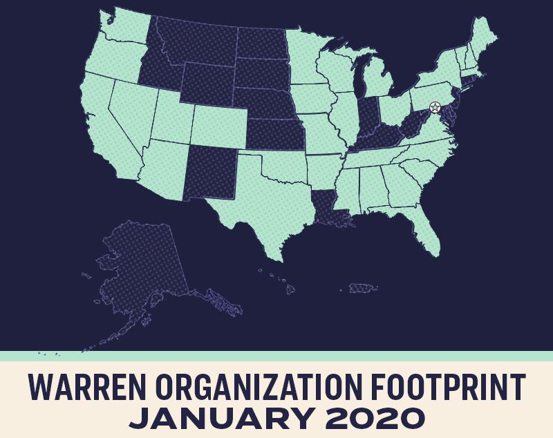 Warren Organization Footprint: January 2020