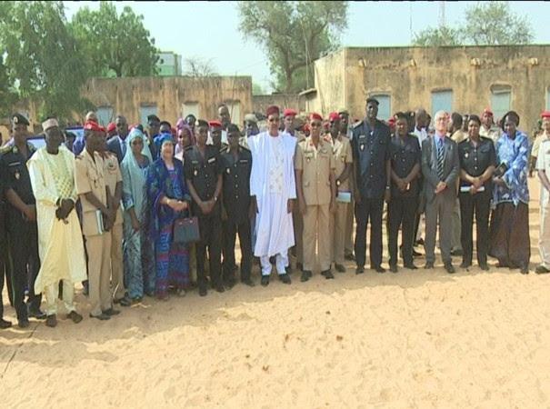 Cérémonie de pose de la première pierre du siège de la Mutuelle de Santé de la Garde et Police Nationale nigérienne - 13 janvier 2020 à Niamey (Niger)