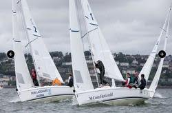 J/80s sailing match-racing in Ireland