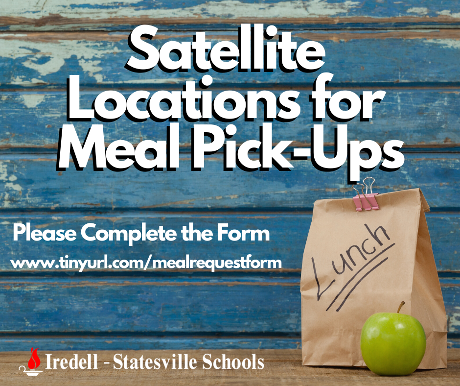 Satellite Locations for Meal Pick-Ups. Please Complete the Form