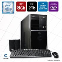 Computador Intel Core i5 7ª Geração 8GB HD 2TB DVD Certo PC SELECT 004