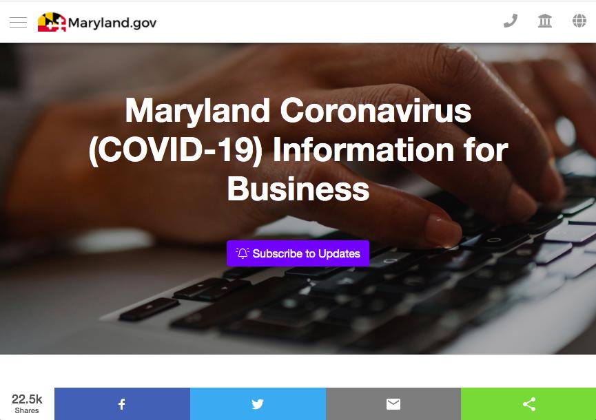 Maryland Business Express Website