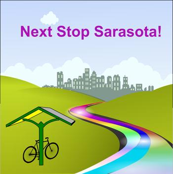 Next Stop Sarasota graphic design by Freepik