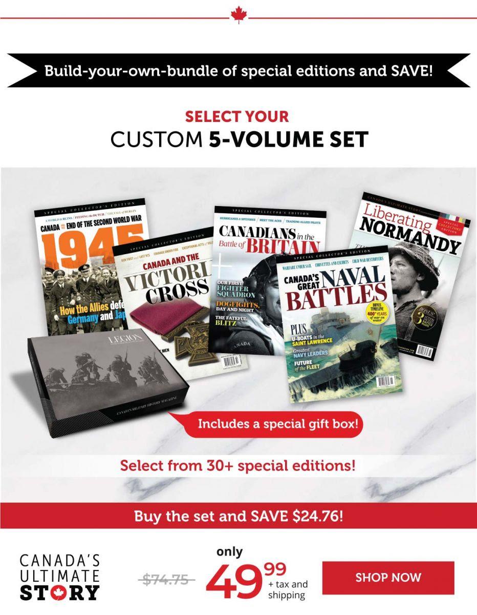 Select your custom 5 volume set
