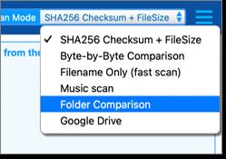 Select the Folder Comparison