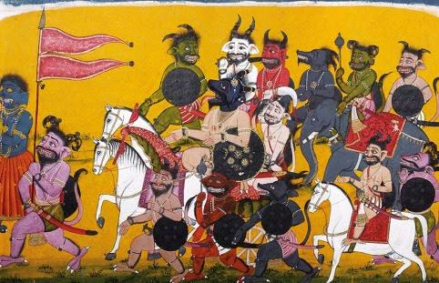 livre-d-art-ramayana-valmiki-marche-raksasa