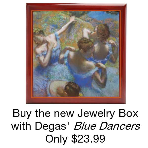 Buy the Jewelry Box with Degas Blue Dancers only $23.99