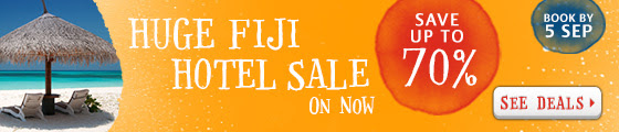 Save up to 70% off Fiji hotels sale  at Zuji.com.au