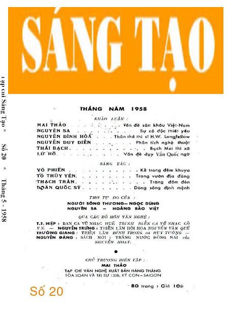 Tạp chí Sáng Tạo (1958)