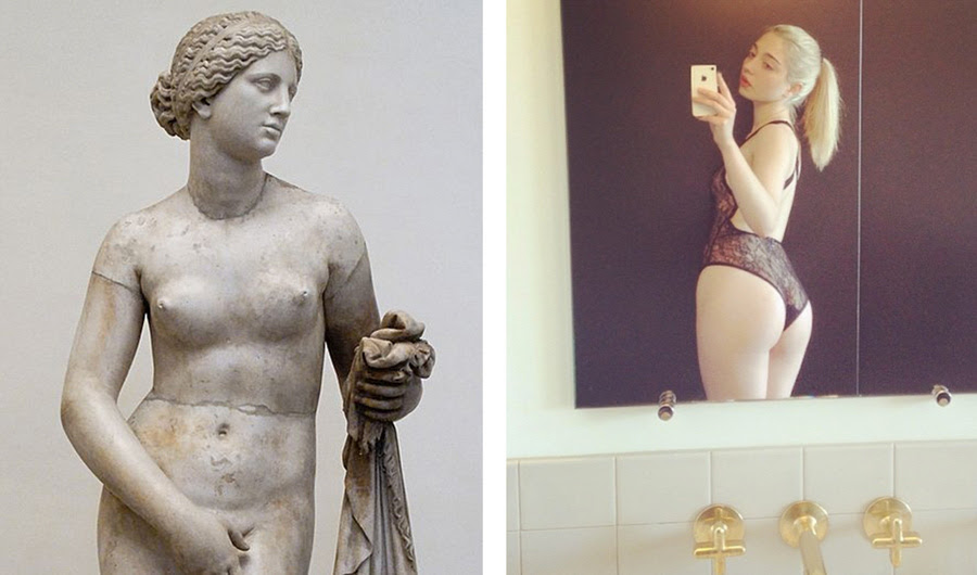 Como a arte tem refletido fêmeas Ideais físicas