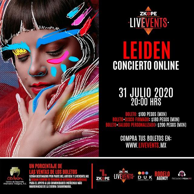 Leiden anuncia su primer concierto online.