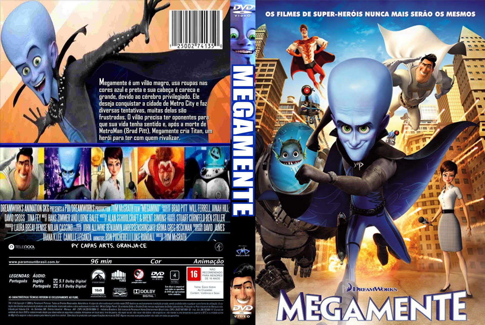 UiGEFpx Megamente Torrent   BluRay Rip 720p Dublado (2010)