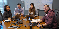Twitter chat moderators were (left to right) Karolyn Kaelin (OC), Carlos Mena and Natassja Manzanero (FORHP), with BHW's Jay Rosenfelder.