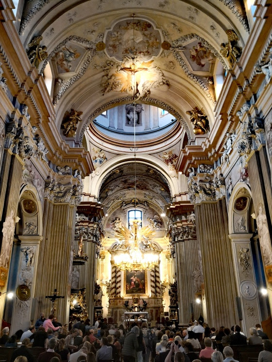 Inside of a cathedral
