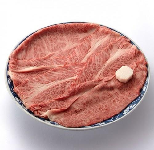 【ちんや】適サシ牛肉折詰 すき焼用(800g、割下付き)