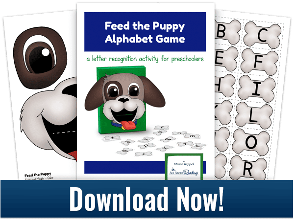 Free Feed the Puppy Alphabet Game Printables