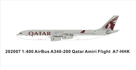 PM202007 | Panda Models 1:400 | Airbus A340-200 Qatar A7-HHK | is due: May 2020