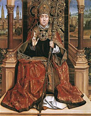 Św. Mikołaj jako biskup łaciński