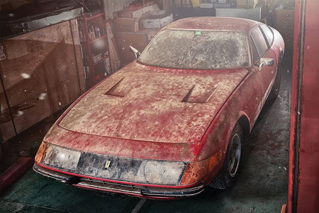 Unique Ferrari Daytona rescued
